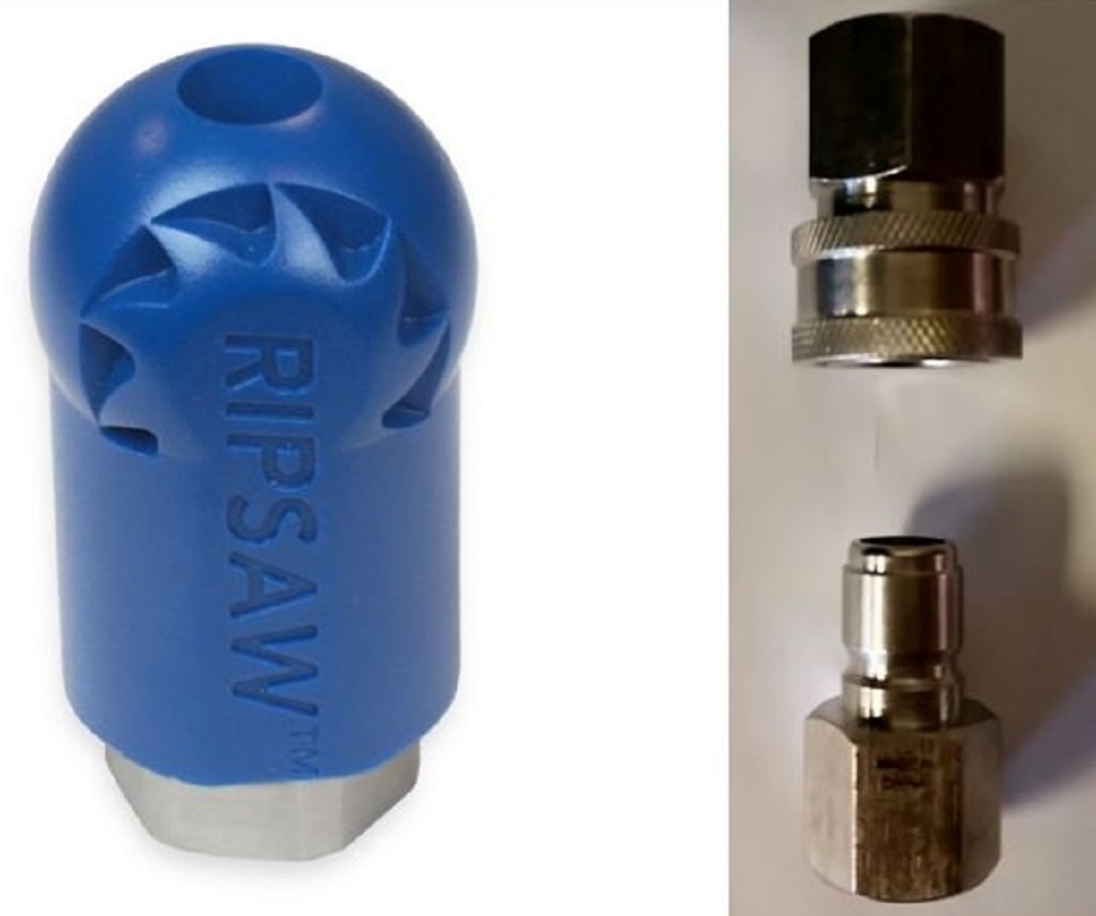 Bundle - 3 items: Ripsaw Rotating Turbo Nozzle, Male & Female Stainless Steel Socket